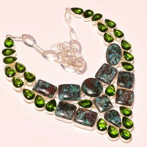 Jewelry - Handmade Chrysocolla Gemstone Necklace New!